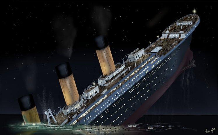 SinkingShip-Titanic